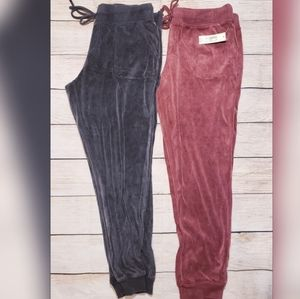 2 joggers pink and black juniors large